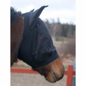 Flughuva Elastisk Svart S/ponny
